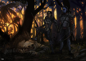 Commission: Nexu's hunters by Brissinge