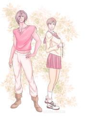 Van and Hitomi - older versions by QuietDuna