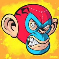 Luchador Monkey by D-MAC