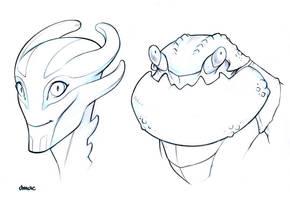 Head Sketches2 by D-MAC