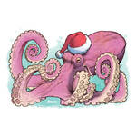 Christmas Octopus by D-MAC
