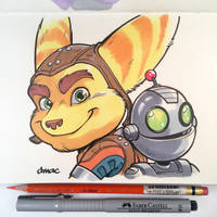 Ratchet and Clank by D-MAC