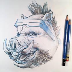 Bebop Sketch by D-MAC