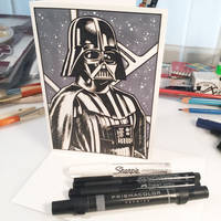 Inktober Day 9 - Darth Vader by D-MAC