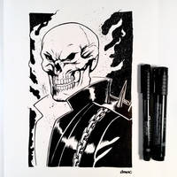 Inktober Day 13 - Ghost Rider by D-MAC