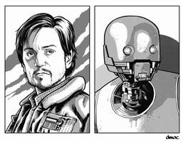Cassian and K2 Retro RPG Art by D-MAC