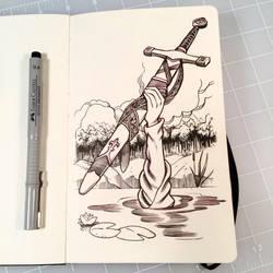 Inktober Day 6 - SWORD by D-MAC