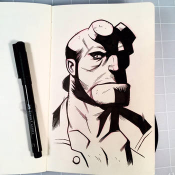 Inktober Day 12 - HELLBOY by D-MAC