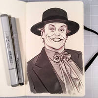 Inktober Day 19 - THE JOKER by D-MAC