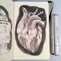 Inktober Day 28 - HEART by D-MAC
