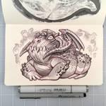 Inktober Day 29 - Demon Frog by D-MAC