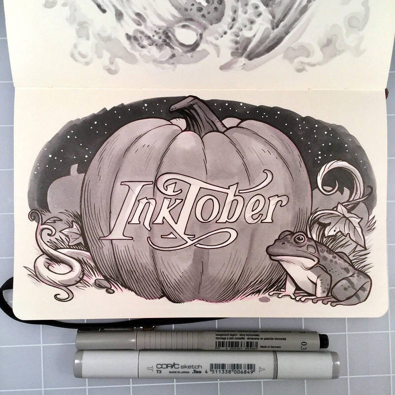 Inktober Day 31 - HAPPY HALLOWEEN by D-MAC