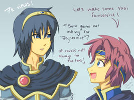 Marth and Roy fanservice :O by Seatha
