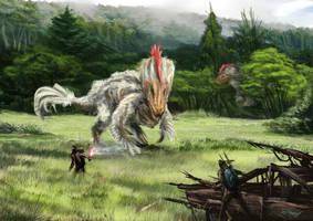 Chicken-saurus Rex by Kiabugboy