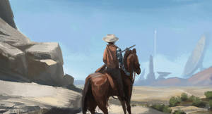 sci-fi western by Kiabugboy