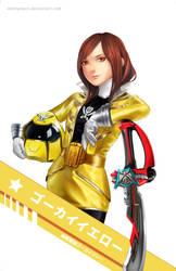 Sentai Girls in Uniform: Gokai Yellow by merkymerx