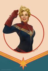 Captain Marvel by merkymerx