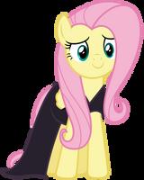Vector 038 - Fluttershy in Nightmare Night Dress by MPnoir