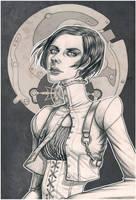 Steampunk Portrait: Kensington by Antihelios