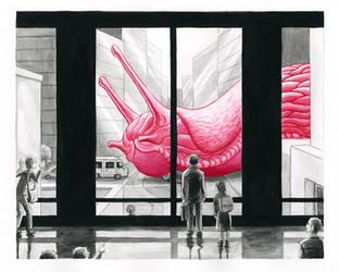 Slug in the city by Antihelios