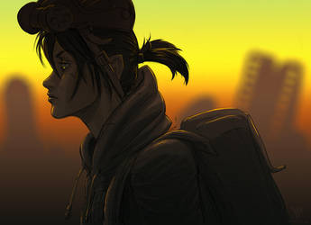 Wasteland Twilight by Antihelios