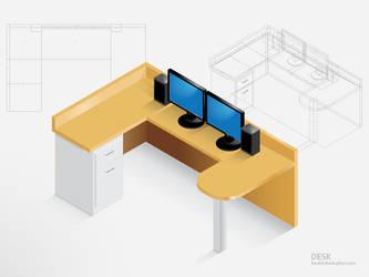 My Desk by phreezer
