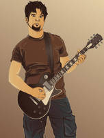 My friend the Guitarist by phreezer