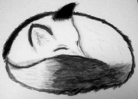 Sleeping Fox by Mysticishfully