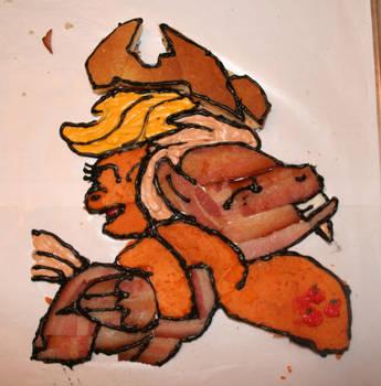 BAcon and Applejack Breakfast time! by SoarinPie