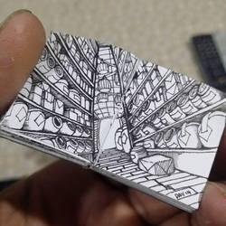 XOVOVIC custome made tiny mini doodle book day14 by xovovic