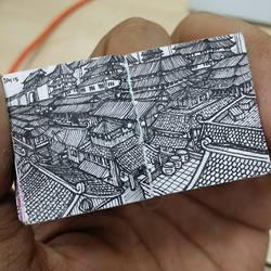 XOVOVIC custome made tiny mini doodle book day15 by xovovic