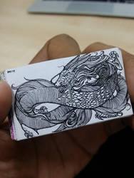 XOVOVIC custome made tiny mini doodle book day17 by xovovic