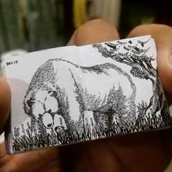 XOVOVIC custome made tiny mini doodle book day18 by xovovic