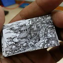 XOVOVIC custome made tiny mini doodle book day23 by xovovic