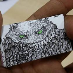 XOVOVIC custome made tiny mini doodle book day26 by xovovic
