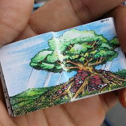 XOVOVIC custome made tiny mini doodle book day27 by xovovic