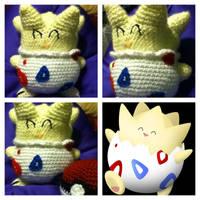 Togepi Plush Pokemon Amigurumi by magpie89
