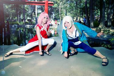 Tsunade y Sakura cosplay by FanychanCosplay