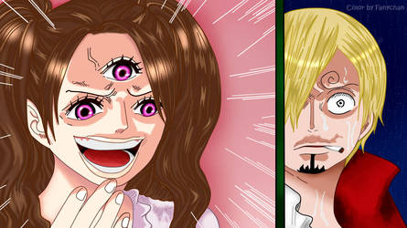 one piece Pudding VS Sanji by FanychanCosplay