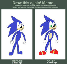 Before and After - SANIC by SonadowShitposts
