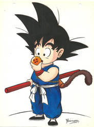 Goku a color. by TamarayGisela