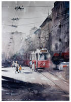 Speed Painting Vienna-17-001 Strassenbahn by mekhz