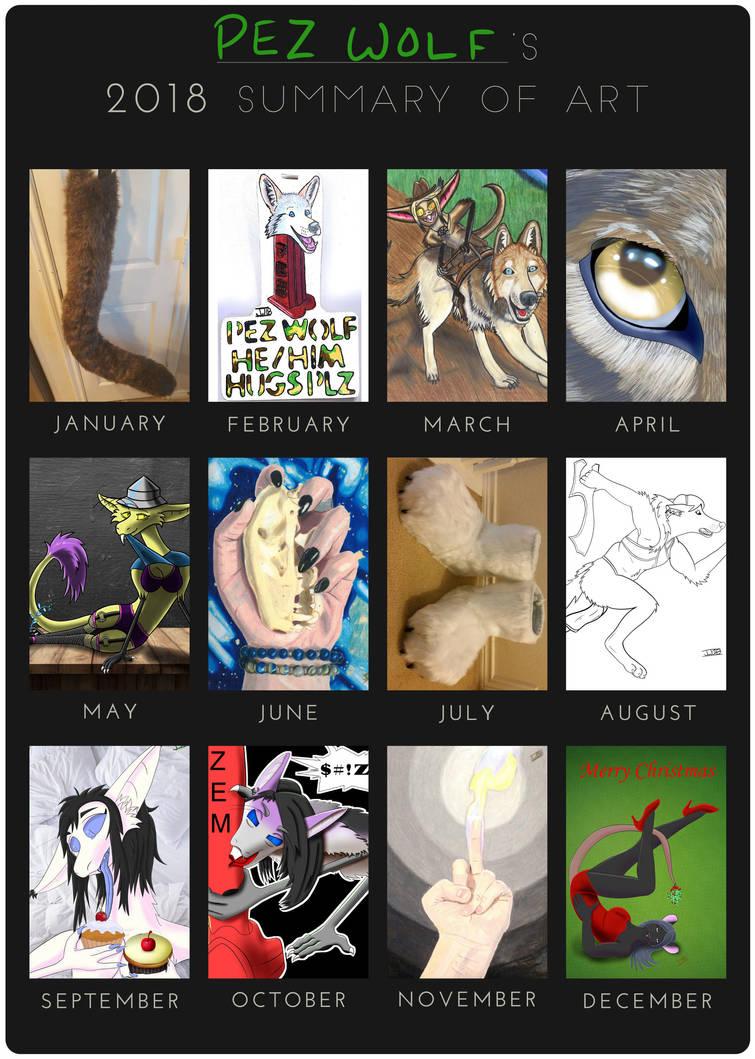 2018 Summary of Art by pezwolf