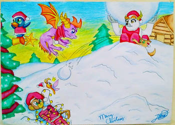 Merry Christmas! - Spyro and Friends by CyborgNekoSica