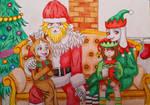Undertale_Christmas Time by CyborgNekoSica