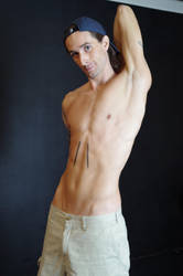 shirtless reference 5 (Cow Face Pose) by lamPkin