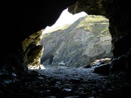Tintagel Cave by xKenren