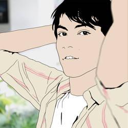 Aku no Hana style self portait by RamonXick