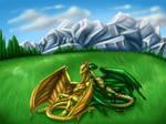 Two happy dragons by Draconigenae666