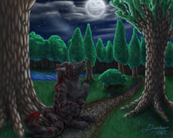 the moon is a scary thing by Draconigenae666